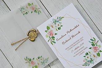 Papiernictvo - Svadobné oznámenie Kvetinový sad - 10460228_
