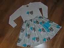 Detské oblečenie - Sukňa a tričko - mačiatkový setík:-) - 10458343_
