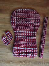 Textil - Podložka do Jané Slalom, obal na madlo a zmäkčovadlá - sada - 10459930_