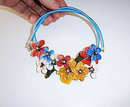 Náhrdelníky - lel,náhrdelník jarné kvietky - 10456740_