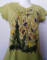 Tričká - Púpavy,kamilky,zvončeky... maľované tričko - 10458147_