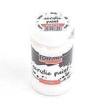 Farby-laky - Akrylová farba 100 ml, matná, biela - 10457991_