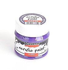 Farby-laky - Akrylová farba matná, 50 ml, Pentart (ametyst) - 10458043_