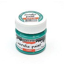 Farby-laky - Akrylová farba, matná, 50 ml, Pentart (tyrkysová zelená) - 10458063_