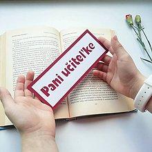 Papiernictvo - Pani učiteľke... - 10459882_