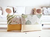 Taštičky - Kozmetické taštičky malé - lúka a zelené listy - 10458482_