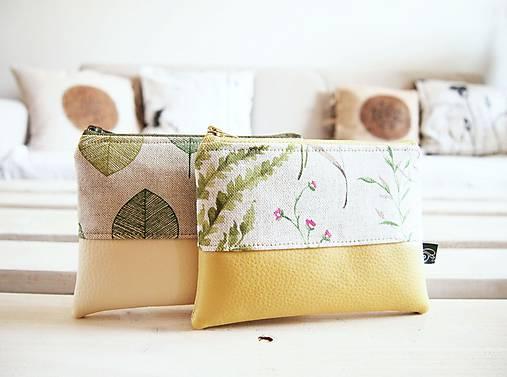 Kozmetické taštičky malé - lúka a zelené listy