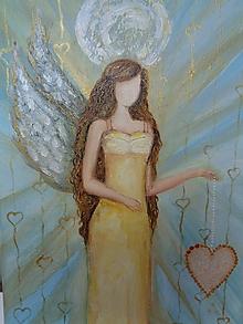 Obrazy - Anjel lásky v slnečných šatách - 10457938_