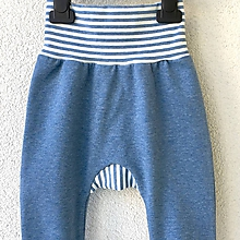 Detské oblečenie - Modrá - kalhotky (baggy) - 10459773_