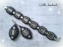 Sady šperkov - Set náušnice + náramok - 10460572_