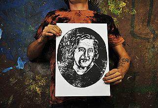 Grafika - Linorytový portrét