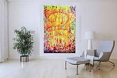 Obrazy - Nothing can destroy your spirit -  XL pestrofarebný viacvrstvový abstrakt - 10459976_