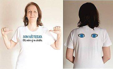 Tričká - tričko som učiteľka - 10459248_