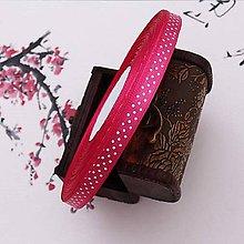 Galantéria - stuha saténová ružová s bodkami 10mm - 10456629_