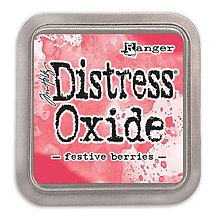 Farby-laky - Poduška Distress Oxide - festive berries - 10456906_