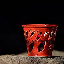 Svietidlá a sviečky - Lampička Véčko lístek - Ohnivý rej - 10457796_
