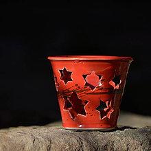 Svietidlá a sviečky - Lampička Véčko hvězdička - Ohnivý rej - 10457825_