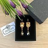 Náušnice - Ručne šité šujtášové náušnice / Soutache earrings Ida - Swarovski - 10457594_