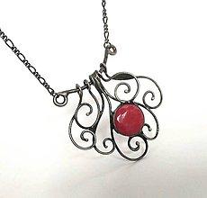 Náhrdelníky - Cínový šperk s minerálom ...Výrazný... - 10459597_