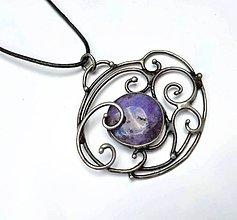 Náhrdelníky - Cínový šperk s minerálom - 10459624_