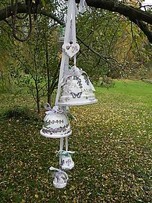 Dekorácie - Zvonkový závěs levandulový - 10459449_