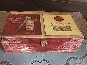 Iné - Krabička vinná - 10459534_