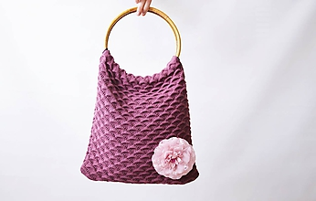 Kabelky - Pletené tašky - 10458400_