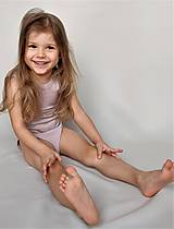 Detské oblečenie - Rastúce merino body - tielko (od narodenia - cappuccino) - 10456502_