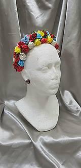 Ozdoby do vlasov - Farebná kvetinová čelenka - 10458877_