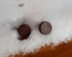 Šperky - manžetové gombíky merbau de luxe - 10459759_