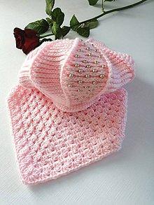 Detské čiapky - Baretka set pearl - 10456702_