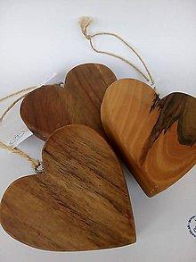 Dekorácie - Drevené srdce - 10459664_