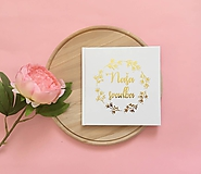 Papiernictvo - Svadobná kniha hostí Wreath I.  - 10456569_