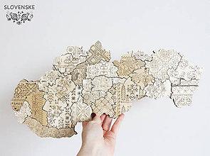 Obrazy - Mapa Slovenskej Ľudovej Výšivky S Folk - 10459413_