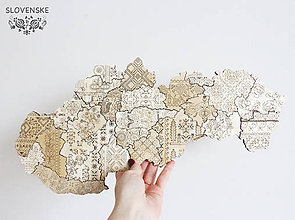 Obrazy - Mapa Slovenskej Ľudovej Výšivky S Folklór - 10459413_