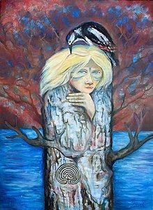 Obrazy - Žena v strome - 10460242_