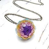 Náhrdelníky - Listopadka jarní II.-náhrdelník z PET - 10457164_