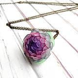 Náhrdelníky - Listopadka Jasmínka- náhrdelník z PET - 10457230_