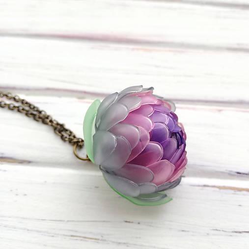 Listopadka Jasmínka- náhrdelník z PET
