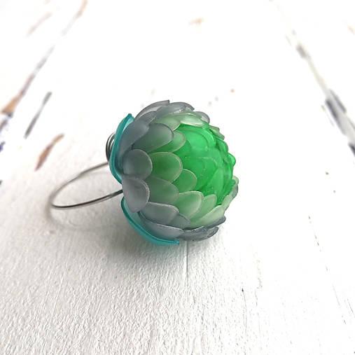 Listopadka prsten- zelený z PET