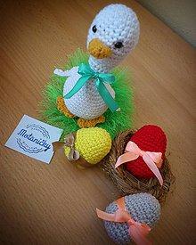 Dekorácie - Háčkovaná kačka - 10456607_