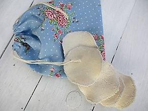 Úžitkový textil - Odličovacie tampóny s BIObavlny s vreckom - 10459492_