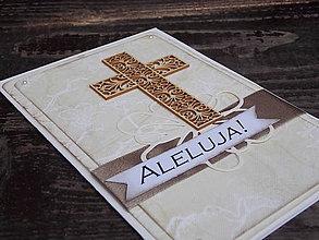 Papiernictvo - ...pohľadnica veľkonočná s krížom... - 10456587_