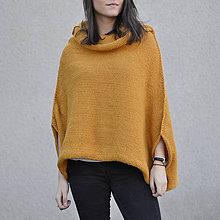 Iné oblečenie - Pončo s rolákom...horčicové - 10460122_