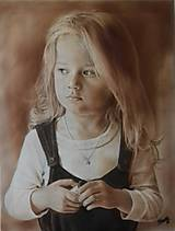 Kresby - Ukážka kresby farebná na plátne 65 x 50 cm - 10458242_