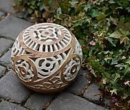 Svietidlá a sviečky - elegantná hnedá - svietnik - 10457367_