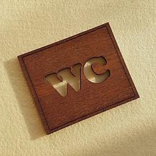 Tabuľky - Tabuľka s označením WC - 10457001_
