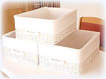 Košíky - Košík - v bielom šate - 10457926_