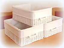 Košíky - Košík - v bielom šate - 10457927_