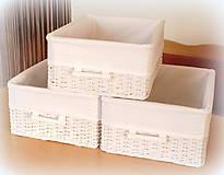 Košíky - Košík - v bielom šate - 10457929_